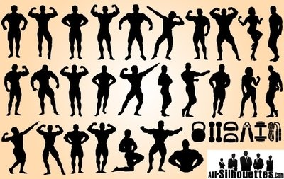 Body Builder Set Silhouette