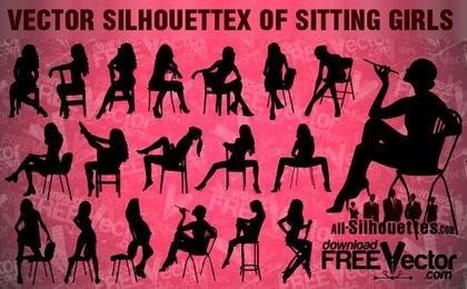 19 Vector sitting girls