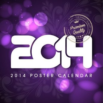 2014 Poster with Floral & Lights