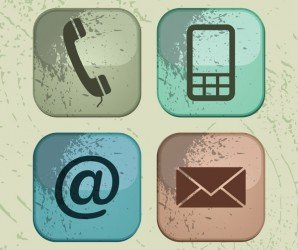 Contact web and internet icons set