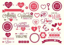 Valentines Love Vector Elements