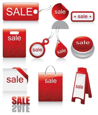 red icon vector sales