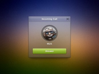 Incoming Call Widget