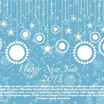 NEW YEAR 2013 BLUE VECTOR ILLUSTRATION.eps