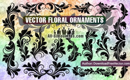 21 Vector floral ornaments