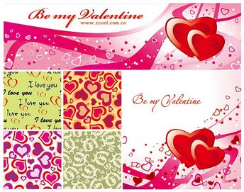 Valentine's Day heart-shaped decorative background vector ma