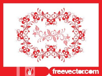 Decorative Wreath with Blooming Flowers