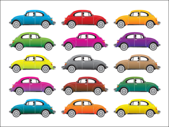 Colorful Beetle Cars