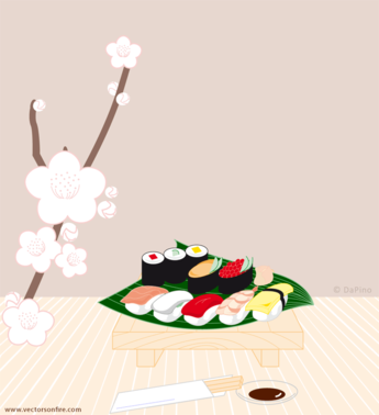 Sushi Set by Pien (1 Vector Art)