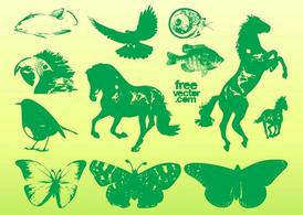 Green Animal Graphics