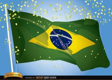 Brasil 2014 Flag Waving Celebration