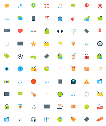 Freebie - 80 Tiny Vector Icons