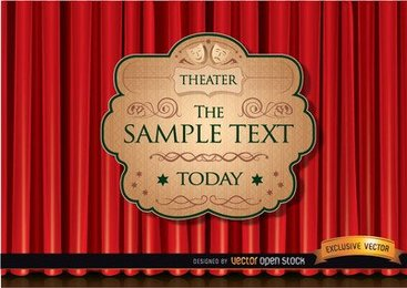 Theater ad with red curtain