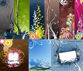 A variety of fashionable and practical background pattern ve