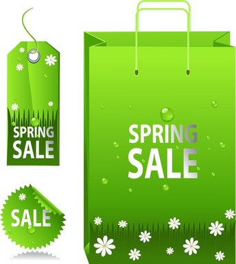 Green Spring Tag Sale Tag