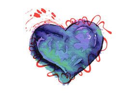 Free Colorful Watercolor Heart
