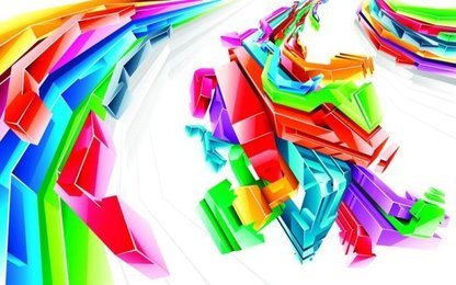 Vector background of three-dimensional geometry