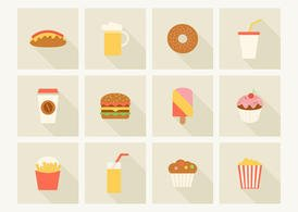 Free Fast Food Vector Icons