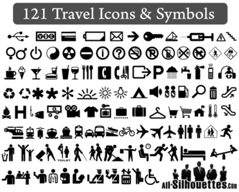 121 Free Vector Travel Icons and Symbols