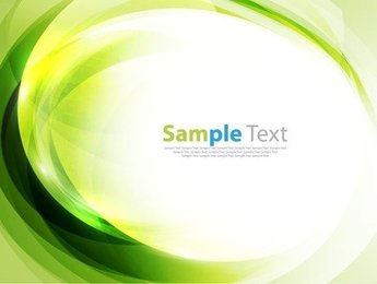 Green Abstract Art Background