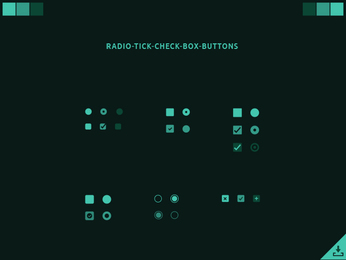 Radio Tick Check Box Buttons