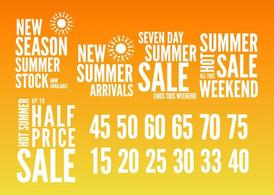 Summer Sales Graphics