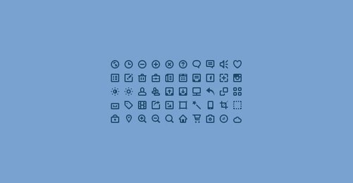 50 Mini Icons (PSD)