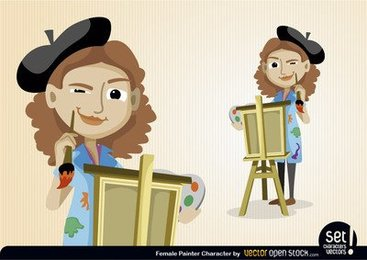 Female Painter Character