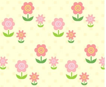 Lovely background series vector material 2