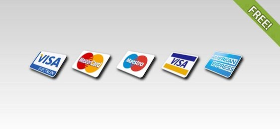 Free 5 Credit Card Icons