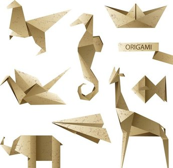 Origami Letter And Graphics