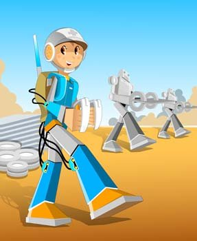 Space Robot Vector 2