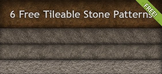 6 Free Tileable Stone Patterns