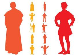 Retro People Silhouettes Pack