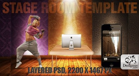 Stage room psd template