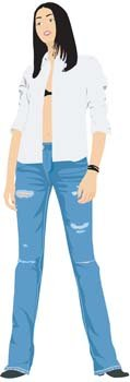 Jeans Girl Vector 7