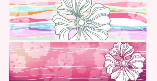 Horizontal Flowers Banners