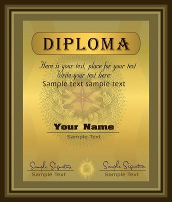 Gorgeous Diploma Certificate Template 04