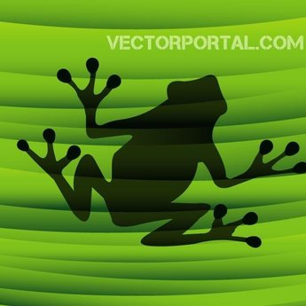 FROG ON GREEN VECTOR BACKGROUND.eps