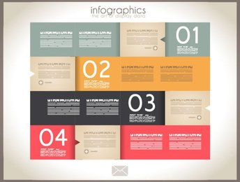 Trendy banners-origami design template for infographics