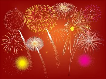 Free Vector Fireworks