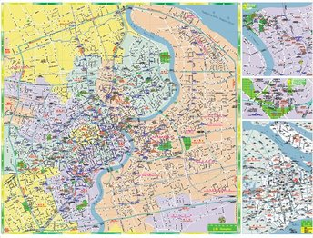 Shanghai super detailed vector maps (both street signs const