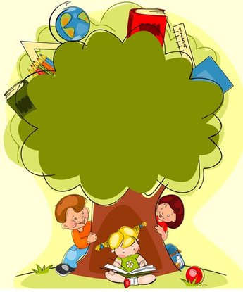 Hand drawn school kids vector background material 02