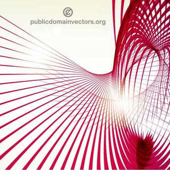 HELIX SHAPE WITH RED STRIPES VECTOR.eps