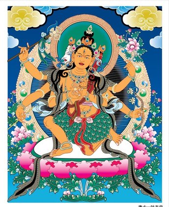 Thangka Mother Leaves Clothes