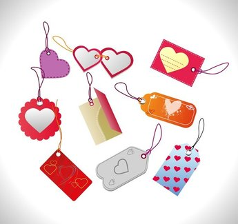 Valentines Day Sales Tags