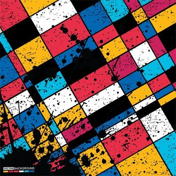 Vector Grunge Squares