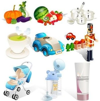 Vegetables, Fruit, Scoop&Pot, Toys, Baby Carriage
