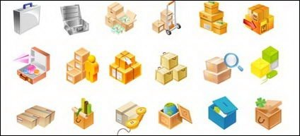 Cartons, toolbox, globes, wooden boxes