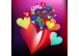 Airbrushed Heart Vectors Two
